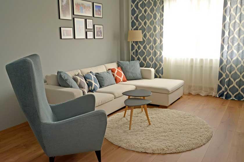 Teppich rund dekorativ