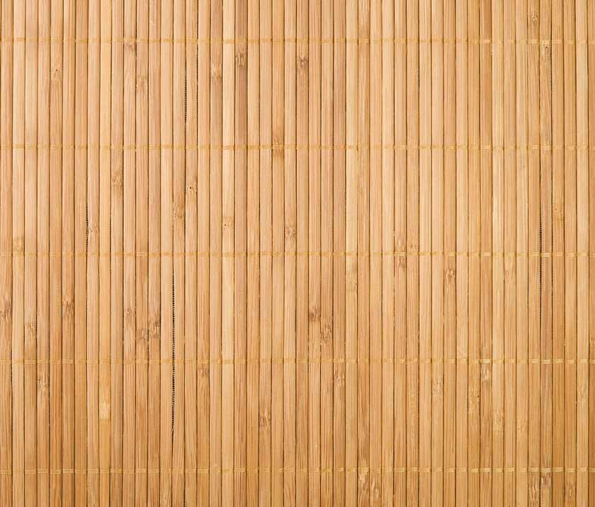 Holzmatte in der Draufsicht